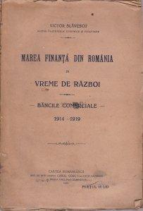 Marea finanta din Romania in vreme de razboi