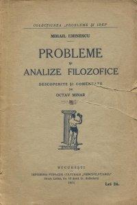 Probleme si analize filozofice