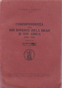 Corespondenta intre Ion Ionescu Dela Brad si Ion Ghica