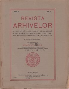 Revista arhivelor