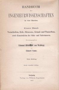 Handbuch der Ingenieurwissenschaften / Manual de stiinte ingineresti