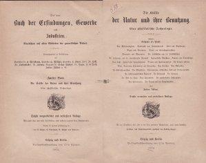 Das Buch der Erfindungen Gewerbe und Industrien / Cartea inventiilor si industriilor comerciale: Fortele din natura si utilizarea acestora