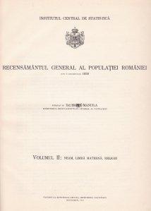 Recensamantul general al populatiei Romaniei din 29 decemvrie 1930