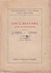 Ion C. Bratianu: acte si cuvantari