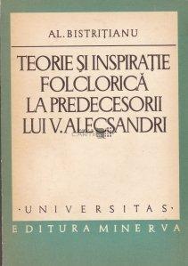 Teorie si inspiratie folclorica la predecesorii lui V. Alecsandri