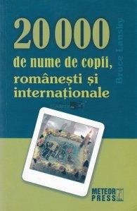 20.000 de nume de copii, romanesti si internationale