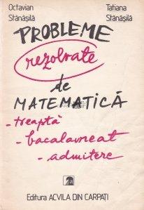 Probleme rezolvate de matematica