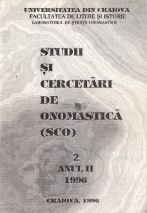 Studii si cercetari de onomastica (SCO)