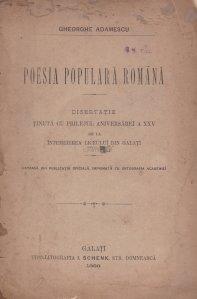 Poesia populara romana