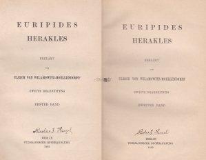 Herakles / Hercule. Explicat de  Ulrich von Wilamowitz-Moellendorff