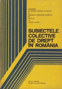Subiecte colective de drept in Romania