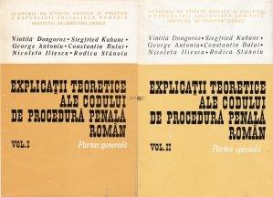 Explicatii teoretice ale Codul de procedura penala roman