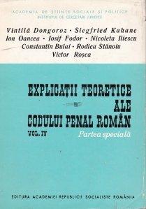 Explicatii teoretice ale codului penal roman