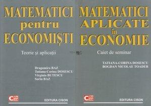 Matematici pentru economisti. Matematici aplicate in economie