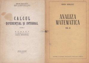 Calcul diferential si integral. Analiza matematica