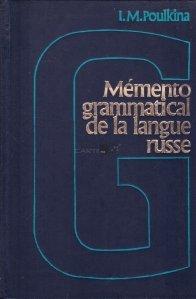Memento grammatical de la langue russe / Memorator de gramatica a limbii ruse