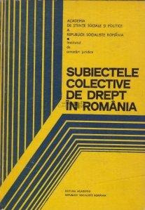Subiectele colective de drept in Romania