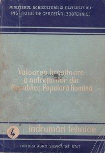 Valoarea hranitoare a nutreturilor din Republica Populara Romina