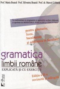 Gramatica limbii romane explicata si cu exercitii