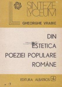 Din estetica poeziei populare romane
