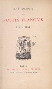 Anthologie des poetes francais