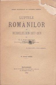 Luptele romanilor din resbelul din  1877-1878