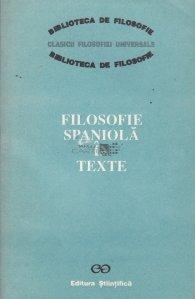 Filosofie spaniola in texte