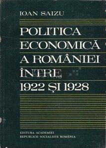 Politica Economica A Romaniei Intre 1922 Si 1928