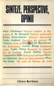 Sinteze, perspective, opinii din Gandirea Romaneasca despre arta