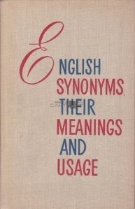 English Synonims and Their Meaning and Usage