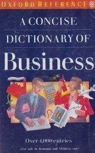 A concise Dictionary of business / Un dictionar concis pentru afaceri