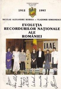 Evolutia recordurilor nationale ale Romaniei