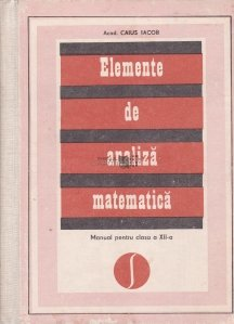 Elemente de analiza matematica