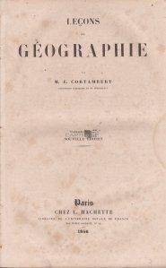 Lecons de geographie / Lectii de geografie