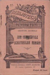 Din biografiile scriitorilor romani