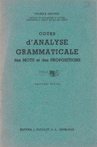 Cours d'analyse grammaticale / Curs de analiza gramaticala