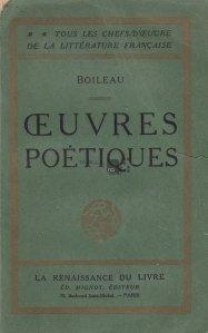Ceuvres poetiques / Lucrari lirice
