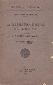 La letteratura italiana nel secolo XIX / Literatura italiana a secolului XIX