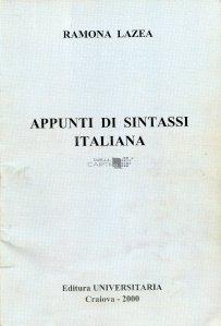 Appunti di sintassi italiana / Note de sintaxa italiana