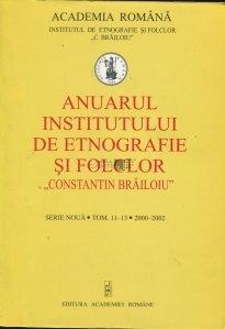 Anuarul institutului de etnografie si folclor Constantin Brailoiu