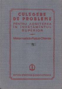 Culegere de probleme pentru admiterea in invatamintul superior