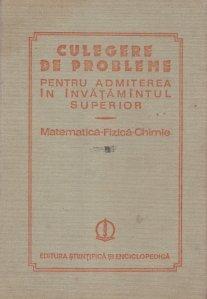 Culegere de probleme pentru admiterea in invatamantul superior