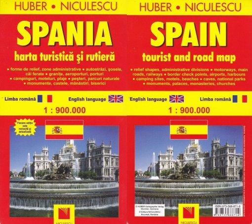 Spania Harta Turistica Si Rutiera Spain Tourist And Roa