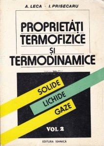 Proprietati termofizice si termodinamice