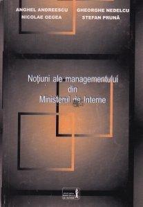 Notiuni ale managementului din Ministerul de Interne