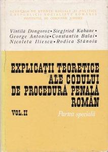 Explicatii teoretice ale codului de procedura penala roman