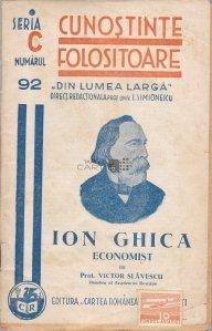 Ion Ghica, economist