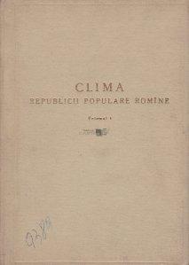 Clima Republicii Populare Romine
