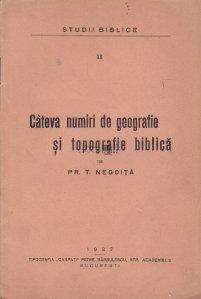 Cateva numiri de geografie si topografie biblica