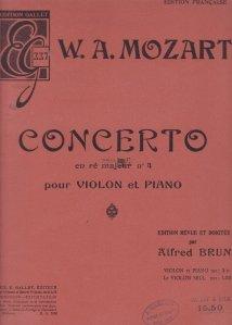 Concerto en re majeur n 4 pour violon et piano / Concertul din D major 4 pentru vioara si pian